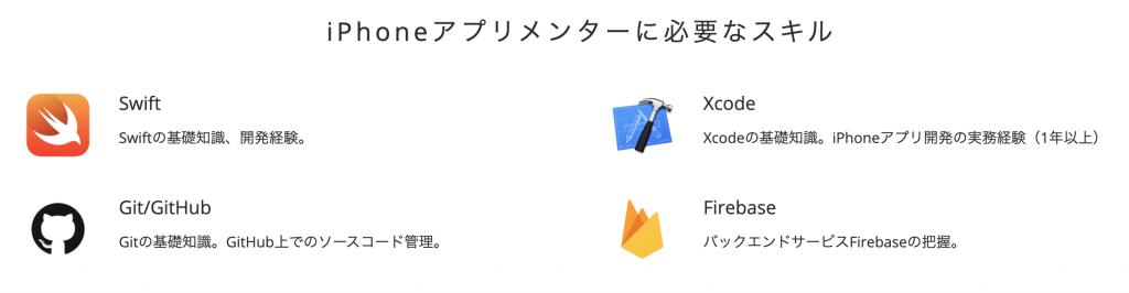 iHoneアプリメンターに必要なスキル