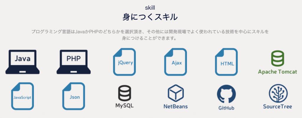 GEEK JOBのWebアプリ学習コースで身につくスキル